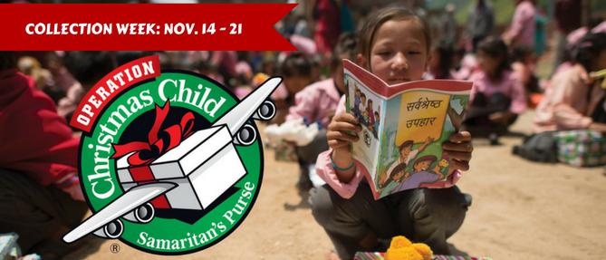 Operation Christmas Child - Nov 14 2016