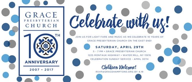10th Anniversary Celebration! - Apr 29 2017 5:00 PM
