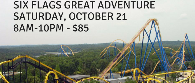 Youth Group: Six Flags Great Adventure - Oct 21 2017 8:00 AM