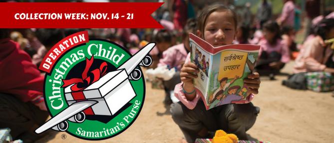 Operation Christmas Child - Nov 13 2017