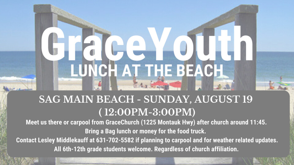 Grace Youth - Lunch at the Beach