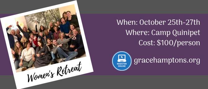 Women's Retreat - Oct 25 2019 5:00 PM