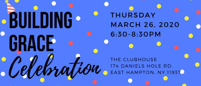 Building Grace Celebration - Mar 26 2020 6:30 PM