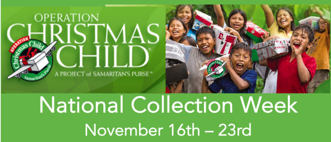 Operation Christmas Child - National Collection Week - Nov 16 2020